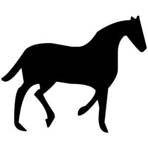 Horse Silhouette 1A LAK 10-0 Horse Wall Decal