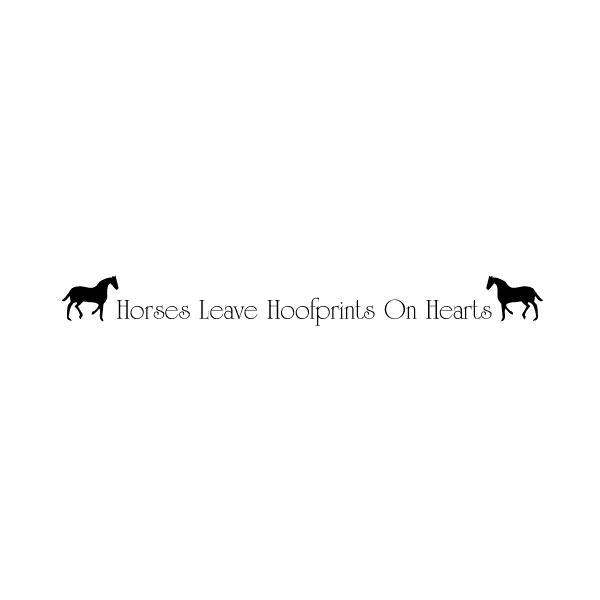 Horses leave hoofprints on hearts Wall Decal