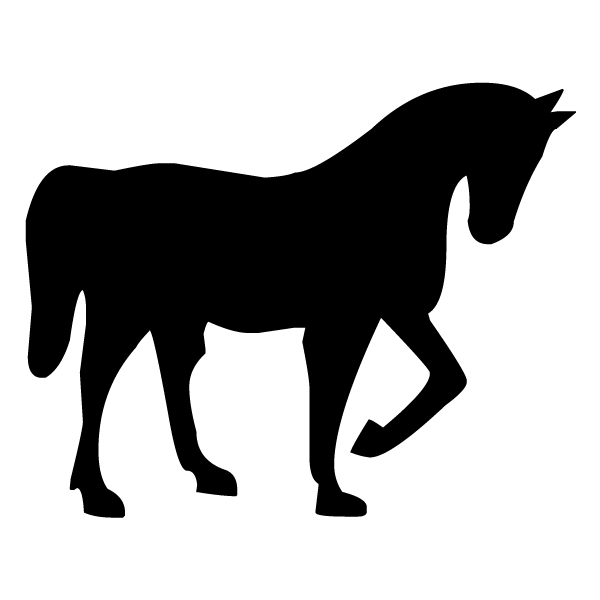 Horse Silhouette 1A LAK 12-2 Cowboy Wall Decal