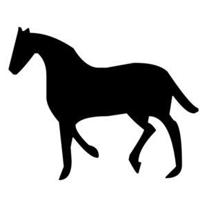 Horse Silhouette 1B LAK 10-1 Horse Wall Decal