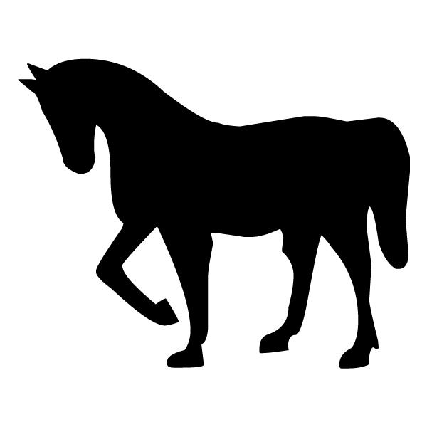 Horse Silhouette 1B LAK 12-3 Cowboy Wall Decal