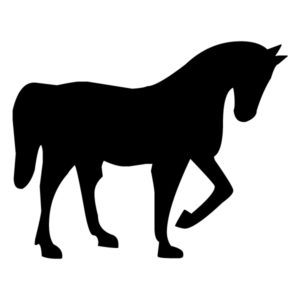 Horse Silhouette 2A LAK 10-2 Horse Wall Decal