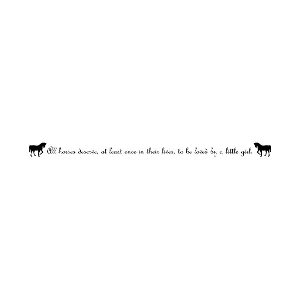 Horse Silhouette 2A LAK 10-2 Horse Wall Decal