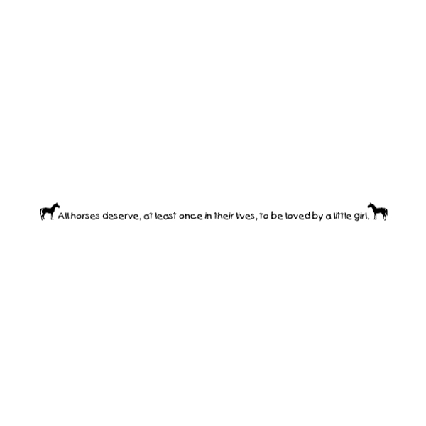 All horses deserve, at least once in their lives Wall Decal