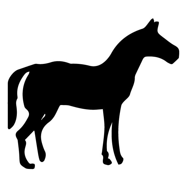 Horse Silhouette 2A LAK 12-A Cowboy Wall Decal