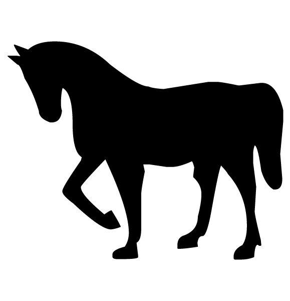 Horse Silhouette 2B LAK 10-3 Horse Wall Decal