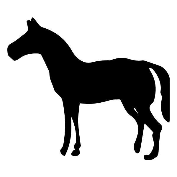 Horse Silhouette 2B LAK 12-B Cowboy Wall Decal