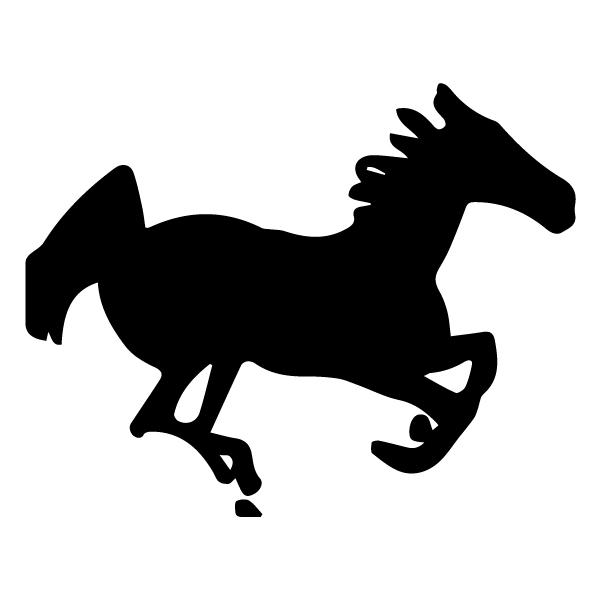 Horse Silhouette 3A 10-A Horse Wall Decal