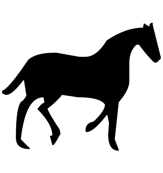 Horse Silhouette A LAK 14 7 Animal Wall Decal