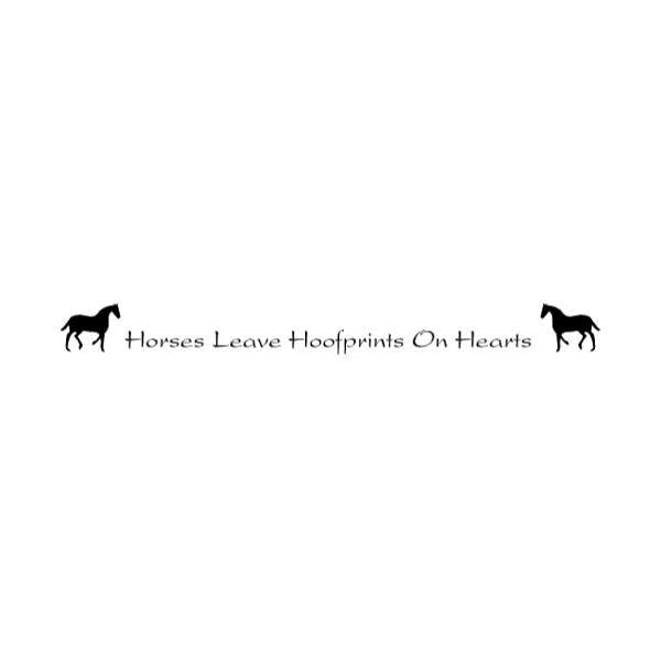 Horses Leave Hoofprints Wall Decal