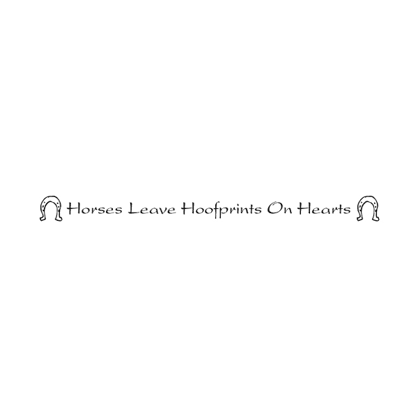 Horses leave hoofprints on hearts Wall Decal