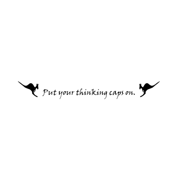 Put your thinking Wall Decal