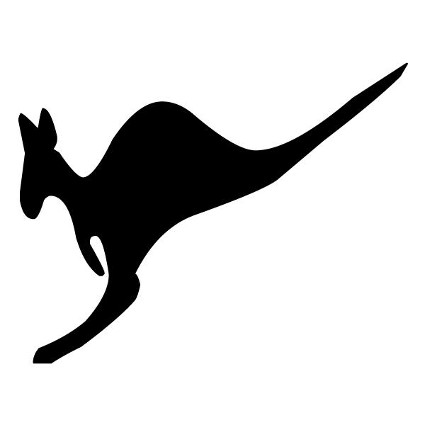 Kangaroo Silhouette 2B LAK 14 h Animal Wall Decal