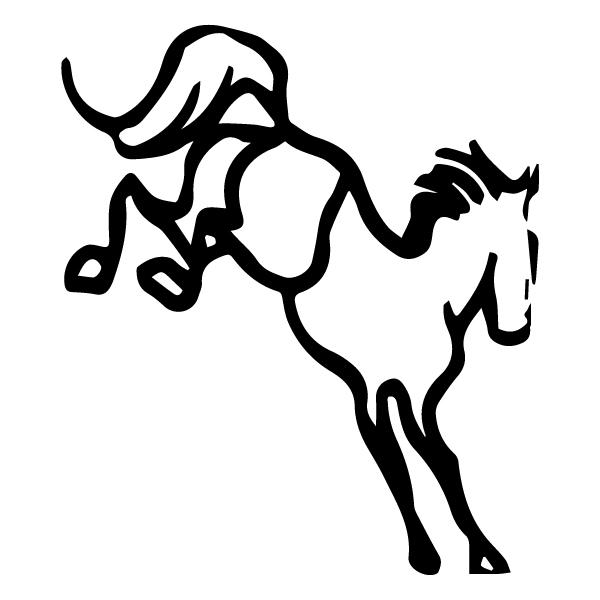 Kicking Horse A LAK 12-G Cowboy 2 Wall Decal
