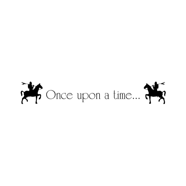Once upon a time... Wall Decal