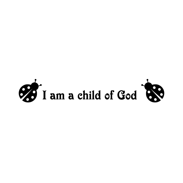 I am child of God Wall Decal