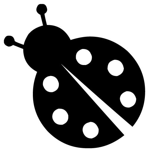 Ladybug 1B LAK 19-1 Ladybugs Wall Decal