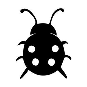 Ladybug 2 LAK 19-2 Ladybugs Wall Decal