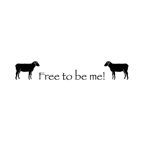 Free to be me! Wall Decal
