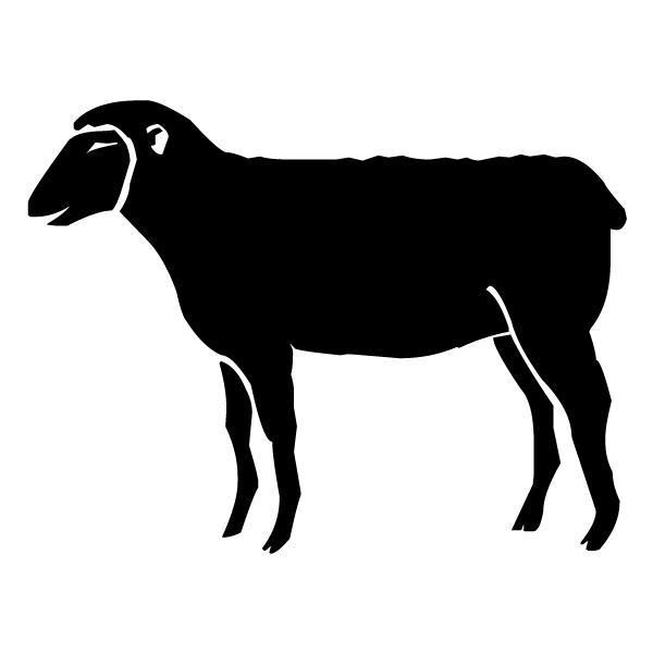 Lamb B LAK 30-9 Farm Wall Decal
