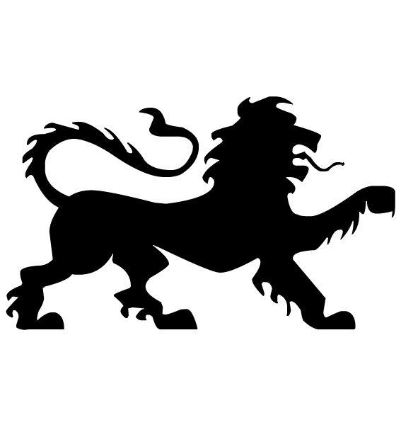Lion Silhouette A LAK 14 w Animal Wall Decal