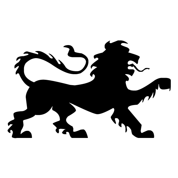 Lion Silhouette A LAK 15-K Jungle Wall Decal
