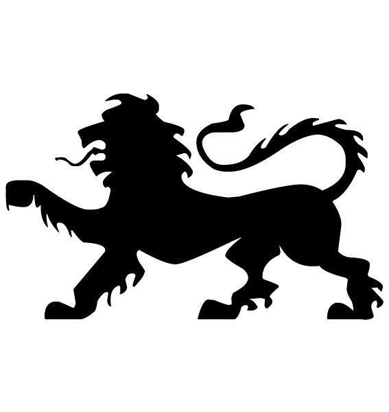 Lion Silhouette B LAK 14 x Animal 2 Wall Decal