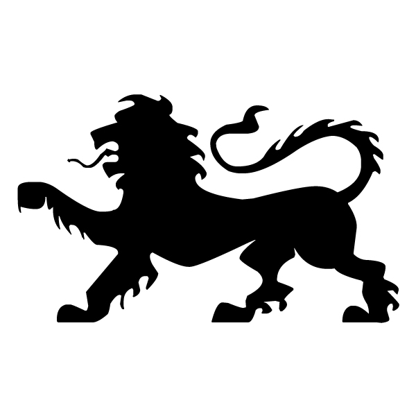 Lion Silhouette B LAK 15-L Jungle Wall Decal