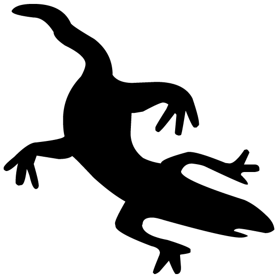 Lizard Silhouette A LAK 14 i Animal Wall Decal