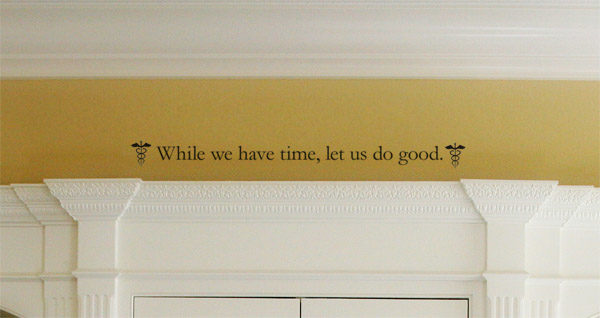 While we have time, let us do good Wall Decal