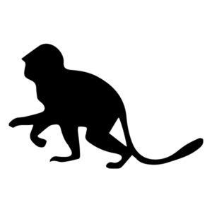 Monkey Silhouette 1B LAK 15-H Jungle Wall Decal