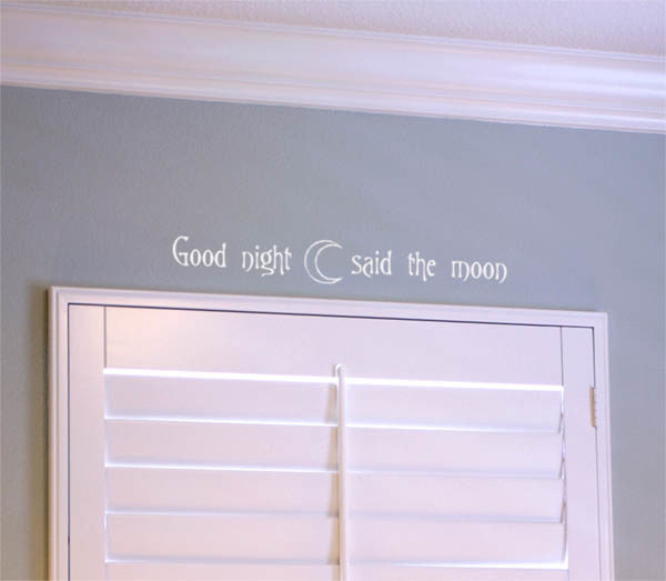 Good night said the moon Wall Decal