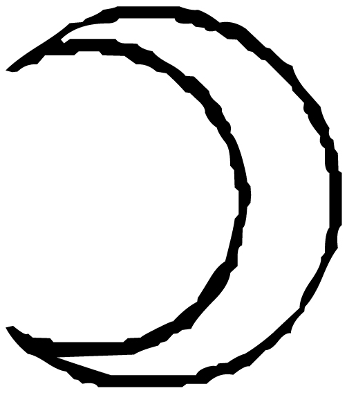 Moon Lettering Art 11 6 Wall Decal