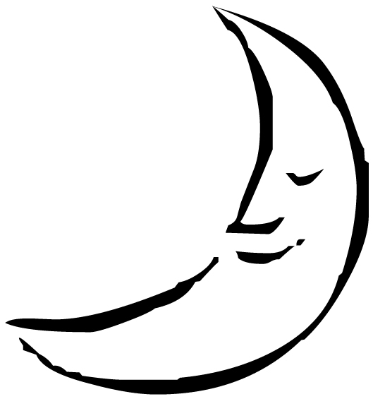 Moon Smiling Face Lettering Art 11 3 Wall Decal
