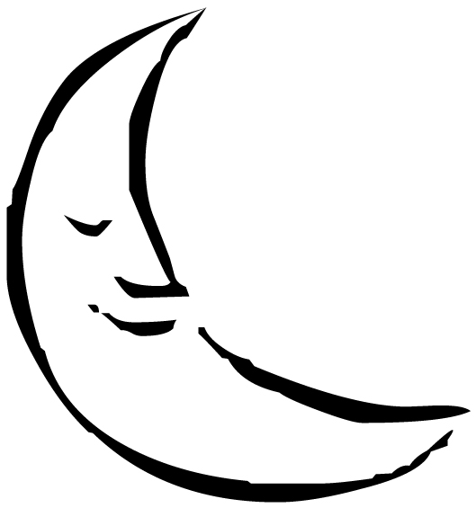 Moon Smiling Face Lettering Art 11 7 Wall Decal