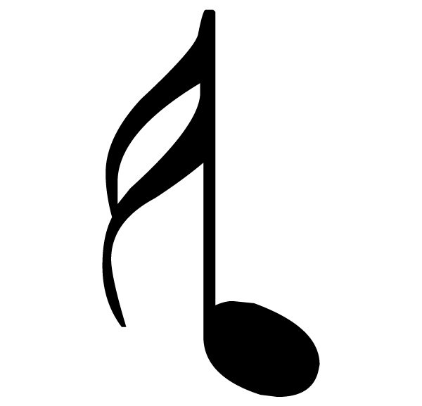 Music Notes Pair 4 A Lettering Art 13 7 Wall Decal