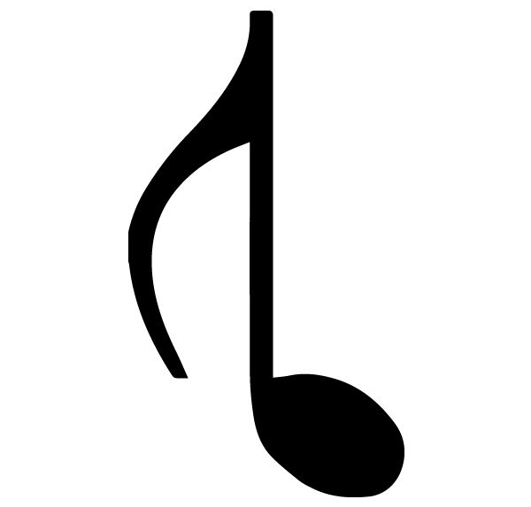 Music Notes Pair 5 A Lettering Art 13 A Wall Decal