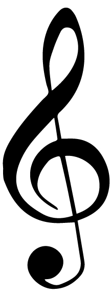 Music Notes Treble Clef Lettering Art 13-C Wall Decal
