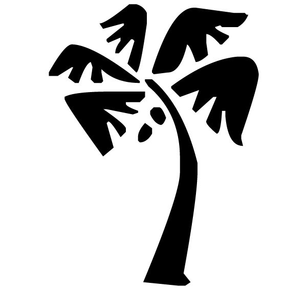 Palm Tree Lettering Art 5 2 Wall Decal
