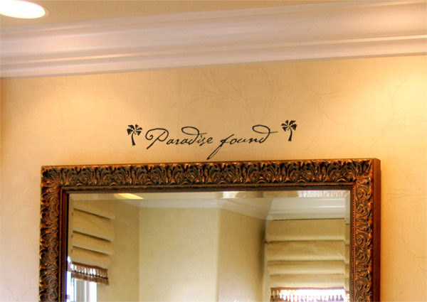 Paradise found Wall Decal