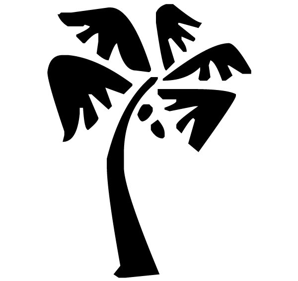 Palm Tree Lettering Art 5 c Wall Decal