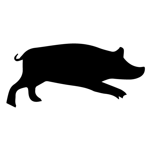 Pig Silhouette A LAK 14 R Animal Wall Decal