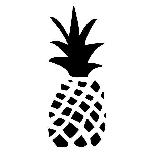 Pineapple Lettering Art 5 1 Wall Decal