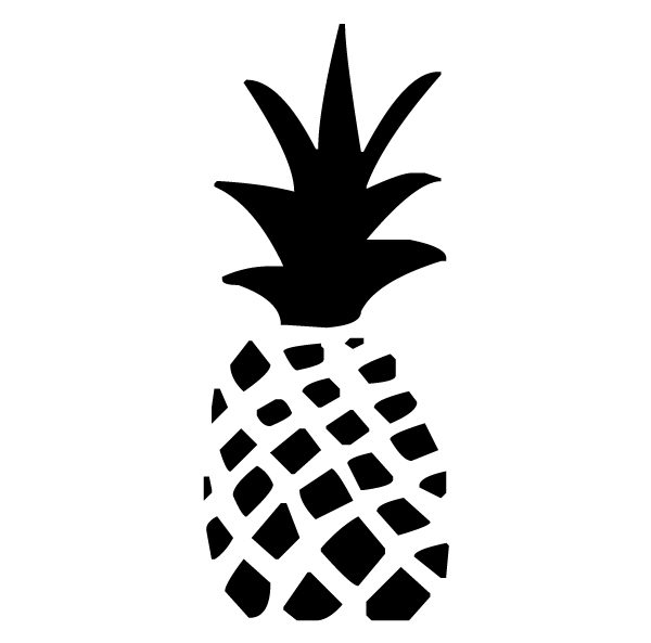 Pineapple Lettering Art 5 b Wall Decal