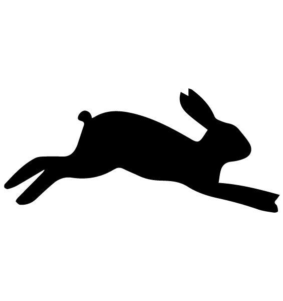 Rabbit Silhouette 1A LAK 14 D Animal Wall Decal