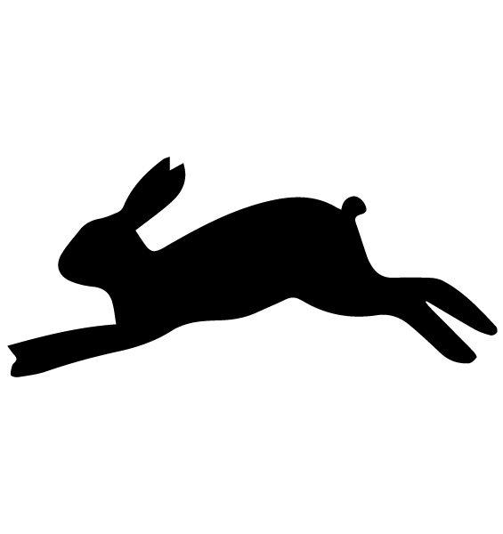 Rabbit Silhouette 1B LAK 14 E Animal Wall Decal