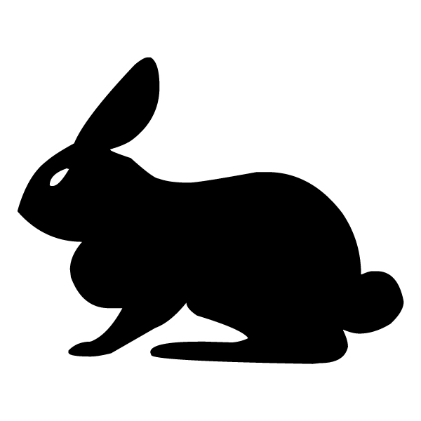 Rabbit Silhouette 2B LAK 14 r Animal Wall Decal