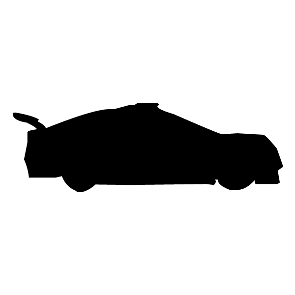 Race Car Silhouette 1A LAK 5-0 Racing Wall Decal