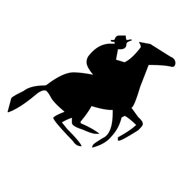 Riding Horse A LAK 12-4 Cowboy Wall Decal