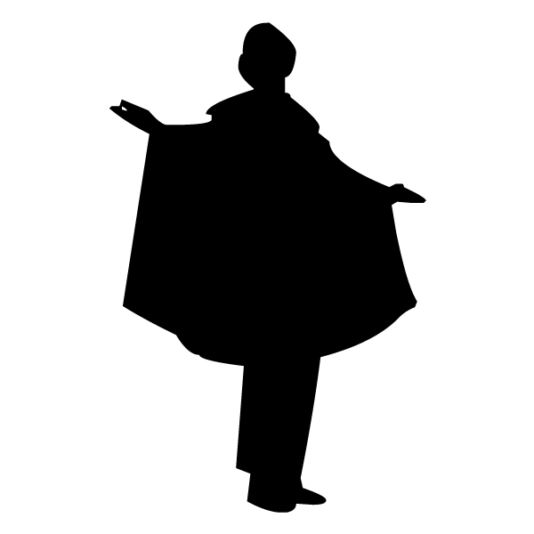Ringmaster Silhouette A LAK 17-2 Circus Wall Decal